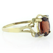 Natural Red Garnet Ring in 10K Yellow Gold