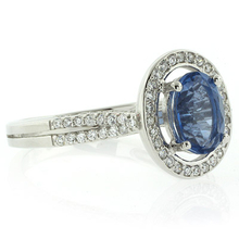 Micro Pave Setting Alexandrite .925 Silver Ring