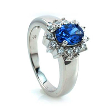 Tanzanite in .925 Sterling Silver Ring