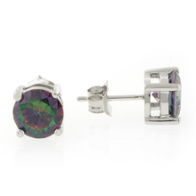 Smoked Mystic Topaz Stud Sterling Silver Earrings