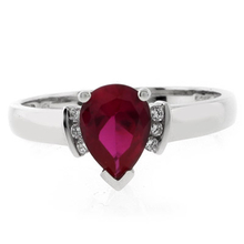 Classy Red Ruby Promise .925 Silver Ring