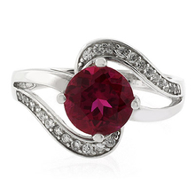 Classy Red Ruby .924 Sterling Silver Ring