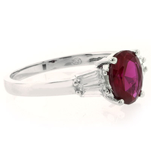 Red Ruby .925 Sterling Silver Fashion Ring