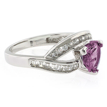 Trillion Cut Alexandrite Color Changing Gemstone Ring in Silver