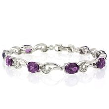 Color Change Alexandrite .925 Sterling Silver Bracelet Purple to Pink