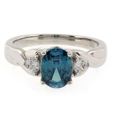 Oval Cut Fashion Alexandrite .925 Sterling Silver Ring