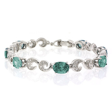 Fashion Oval Cut Alexandrite .925 Sterling Silver Bracelet