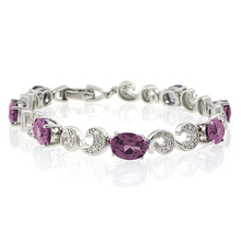 Color Change Alexandrite .925 Sterling Silver Bracelet
