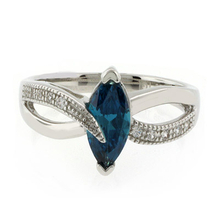 Marquise Cut Classy Alexandrite .925 Sterling Silver Ring