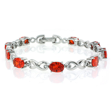 Mexican Cherry Opal .925 Sterling Silver Bracelet