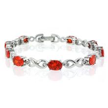 Silver Fire Cherry Opal Bracelet