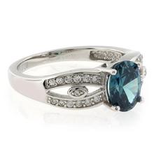 Alexandrite Oval Cut Gemstone .925 Sterling Silver Ring