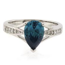 Huge Pear Cut Alexandrite .925 Silver Ring
