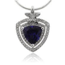 Elegante Dije de Plata .925 con Zafiro Azul