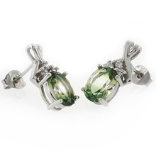 Oval Cut Watermelon Tourmaline .925 Sterling Silver Earrings