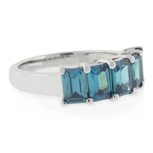5 Stone Alexandrite .925 Silver Ring