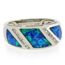 Australian Opal Unisex Ring in .925 Sterling Silver