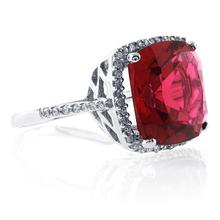 Cushion Cut Pink Garnet .925 Sterling Silver Ring