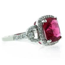 Pink Garnet Ring in .925 Sterling Silver