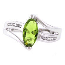 Marquise Cut Peridot Ring