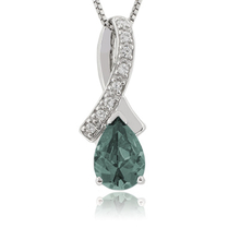 Beutiful Alexandrite Slide Silver Color Change Pendant