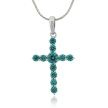 Gorgeous Color Changing Alexandrite Cross Pendant