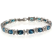 Very Elegant Alexandrite Oval Cut Stone Sterling Silver Bracelet