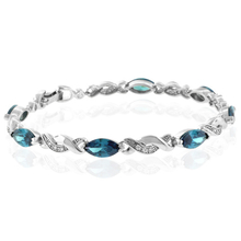 Beautiful Alexandrite Color Change .925 Sterling Silver Bracelet