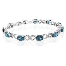 Gorgeous Blue to Green Alexandrite Sterling Silver Bracelet