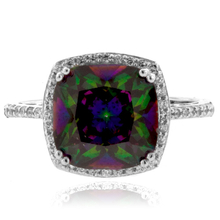 Gorgeous .925 Sterling Silver and Mystic Topaz Ring