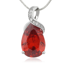 Cherry Opal 27 mm x 12 mm Stone Sterling Silver Pendant