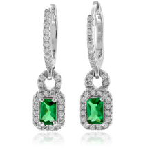 Emerald High Quality .925 Silver Earrings