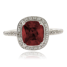 Genuine Ruby MicroPave Sterling Silver Ring