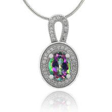 Mystic Fire Topaz .925 Sterling Silver Pendant
