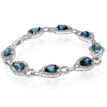 Pear Cut High Quality Alexandrite Sterling Silver Bracelet