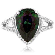 .925 Silver and Mystic Topaz Ring