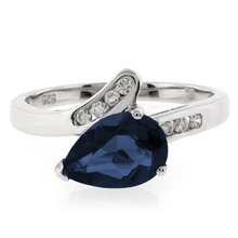 Sterling Silver Solitaire Sapphire Ring