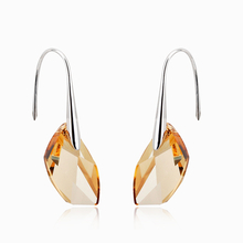 18K Gold Plated Orange Swarovski Crystal Earrings