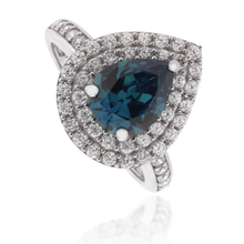 Pear-Cut Color Change Alexandrite Ring in .925 Silver