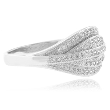 Gorgeous MicroPave .925 Sterling Silver Ring