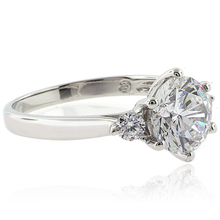3 Stone Engagement 925 Silver Ring