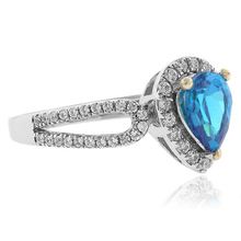 Gorgeous Blue Topaz .925 Silver Ring