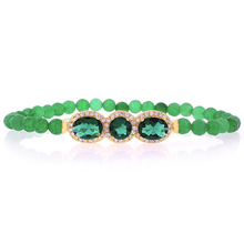 Beautiful Emerald Beaded Stretch Bracelet