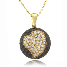 Beautiful Heart Gold Plated .925 Silver Pendant