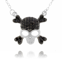 Skull Micropave Sterling Silver Pendant