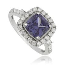Square-Cut Tanzanite Ring in .925 Silver