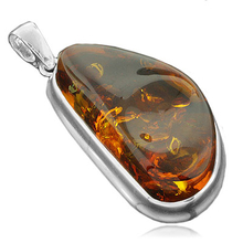 Genuine Baltic Amber .925 Silver Pendant