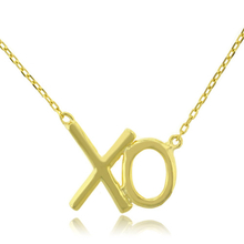 Gold Plated Silver .925 XO Pendant