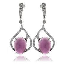Gorgeous Amethyst .925 Silver Earrings