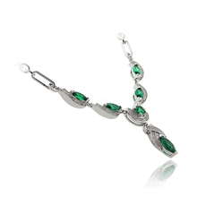 Gorgeous Emerald .925 Sterling Silver Necklace